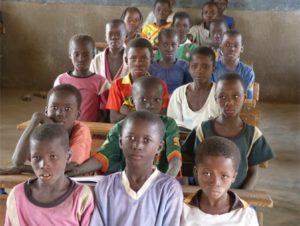 Eine afrikanische Schulklasse